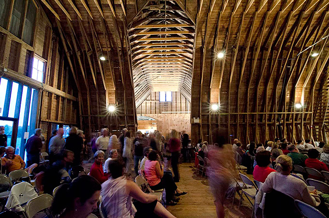 darrows barn interior, south wing