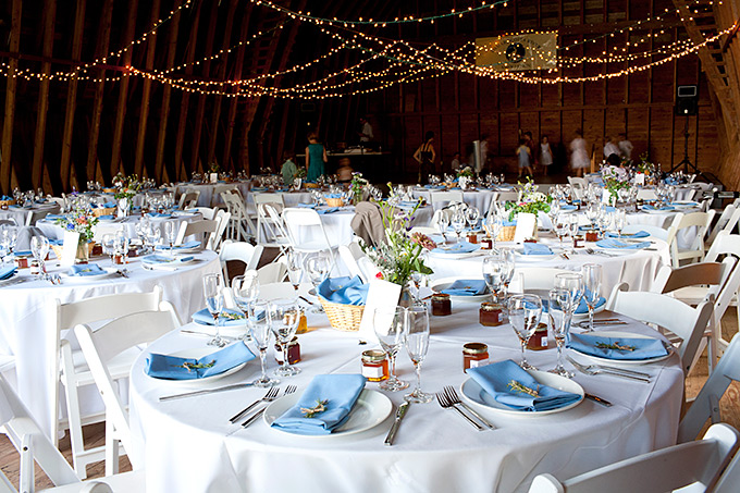 darrows barn interior decorated for a wedding