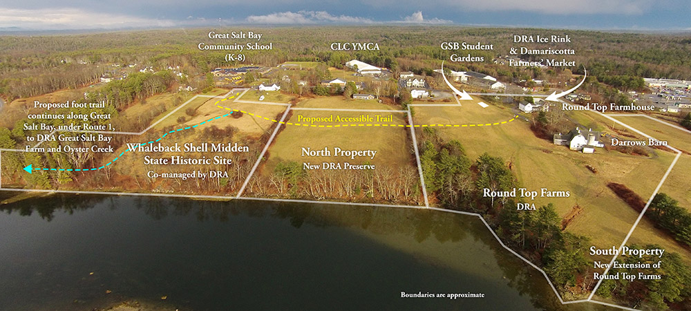 aerial map of proposed trail