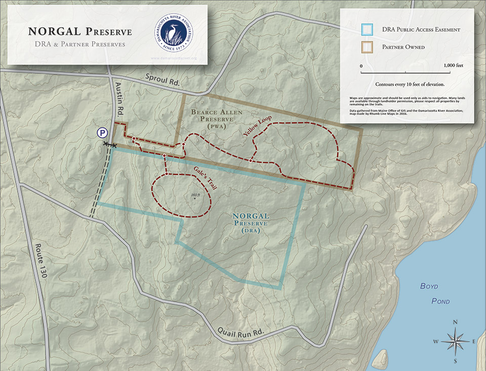 map of the NORGAL preserve