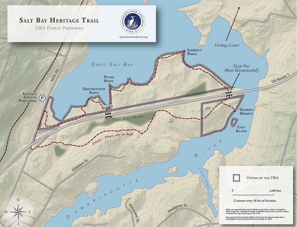 map of Salt Bay Heritage Trail