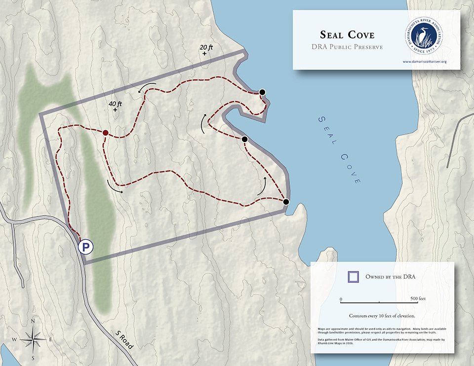 map of Seal Cove Preserve