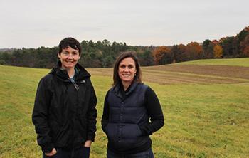 Sara Cawthon and Meg Taft of Twin Villages Foodbank Farm