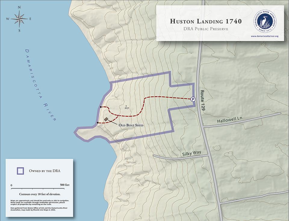 map of Huston Landing