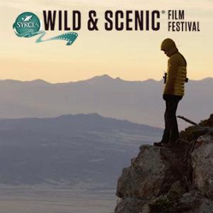 man on mountain top, WSFF logo