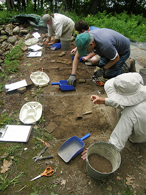 excavating at the Hatch homestead site