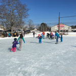 ice skating at the community ice rink