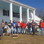 bird box volunteers in front of wawenock golf club house