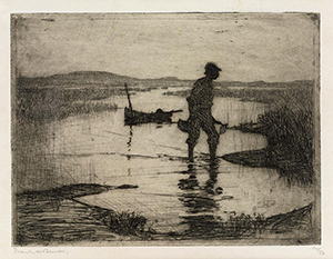 Frank W. Benson's etching of a clam digger
