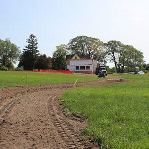 newly dug trail at Round Top Farm