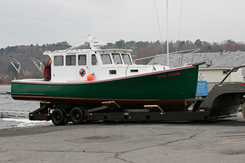 Hauling a boat out at the landing