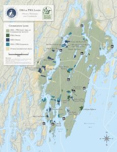 map of DRA and PWA lands and area of conservation activity