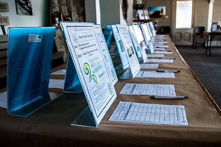 array of silent auction items