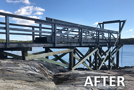 Dodge Point pier after being rebuilt
