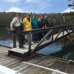 volunteers on the Dodge Point dock
