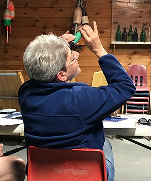 volunteer calibrating measuring device