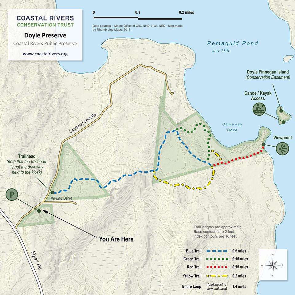map of Bass Rock Preserve