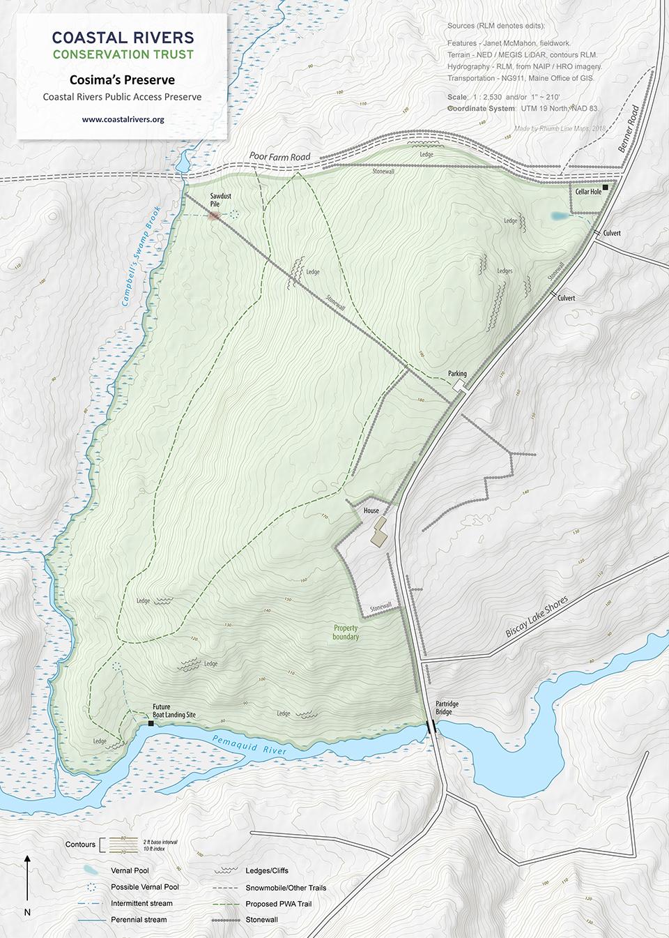 map of Cosima's Preserve