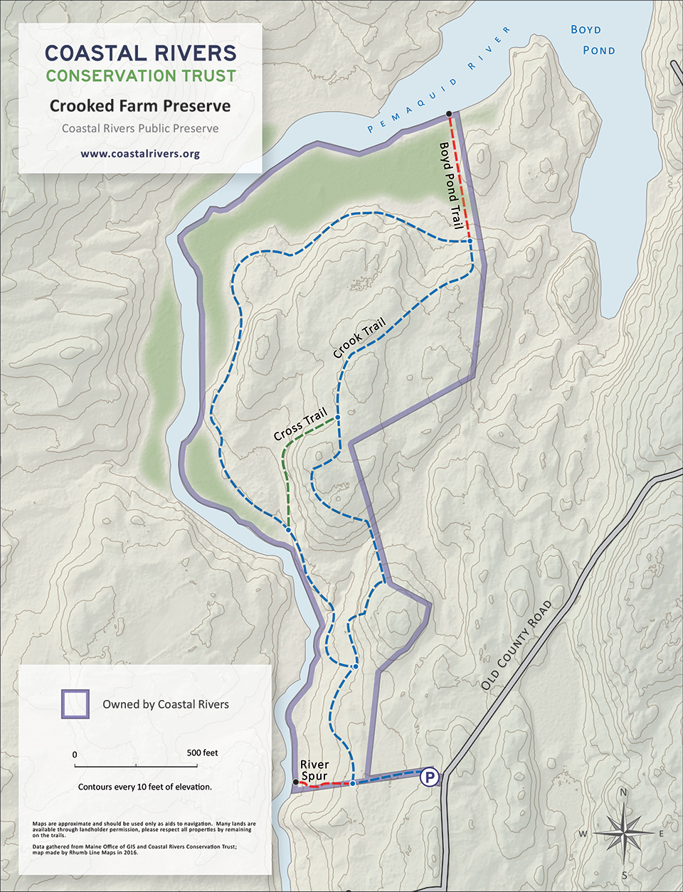 map of Crooked Farm Preserve