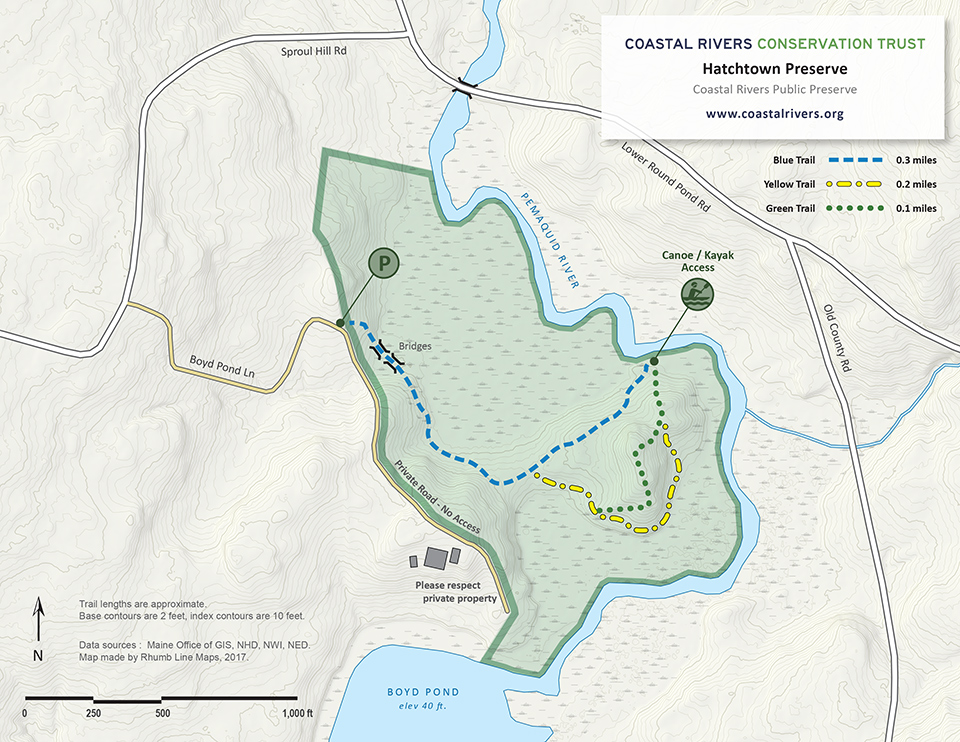 map of Hatchtown Preserve