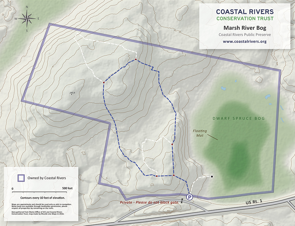 Marsh River Bog map