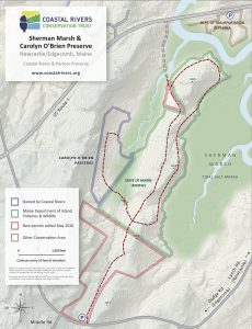 map of Sherman Marsh showing newly added properties