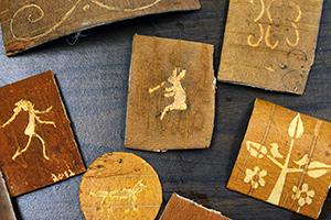 birch bark etchings