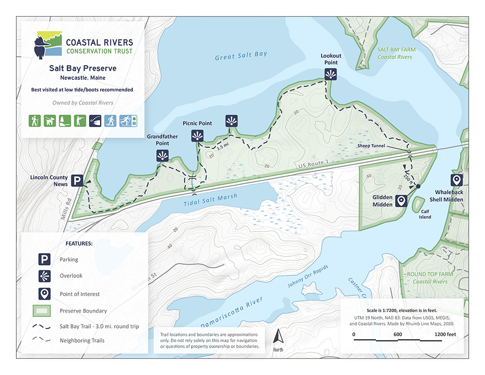 map of Salt Bay Preserve