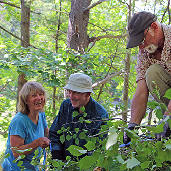 Trail volunteers having a good time
