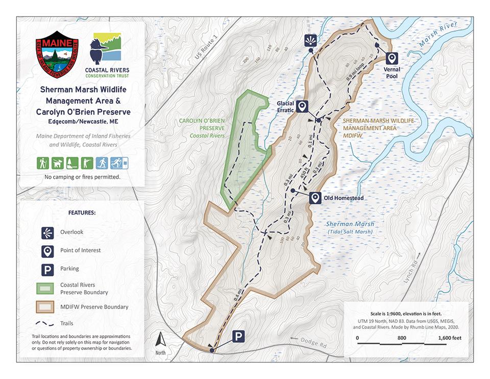 map of Sherman Marsh