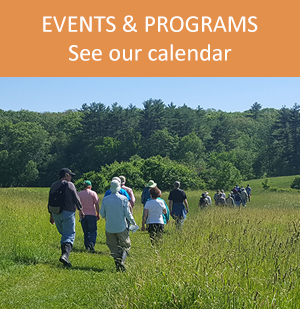 Events & Programs - a guided hike at Salt Bay Farm