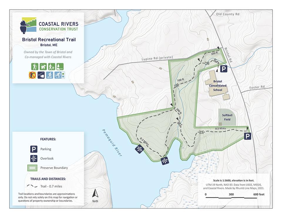 map of Bristol Recreational Trail