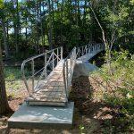 New bridge on the Fox Run trail at Salt Bay Farm